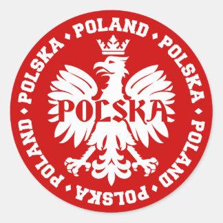 ポーランドのポルスカのワシの紋章 ラウンドシール