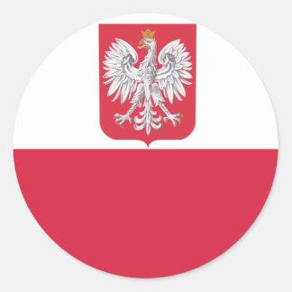 ポーランドのポーランドのワシの頂上 ラウンドシール