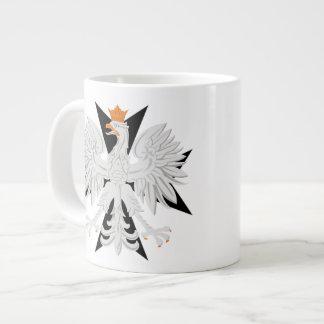 ポーランドのワシの黒のマルタ十字のジャンボマグ ジャンボコーヒーマグカップ