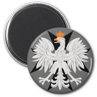 ポーランドのワシの黒のマルタ十字の磁石 マグネット