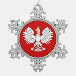 ポーランドのワシ スノーフレークピューターオーナメント