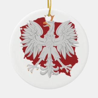 ポーランドのワシ セラミックオーナメント