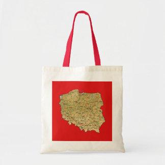 ポーランドの地図のバッグ トートバッグ