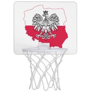 ポーランドの地図の旗のバスケットボールたが ミニバスケットボールゴール