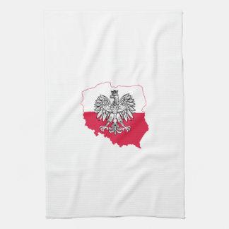 ポーランドの地図の旗の台所タオル キッチンタオル