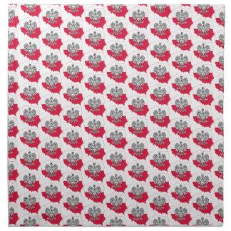 ポーランドの地図の旗の布のナプキン ナプキンクロス