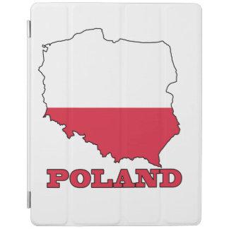 ポーランドの地図の旗 iPadスマートカバー