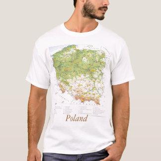 ポーランドの地図 Tシャツ