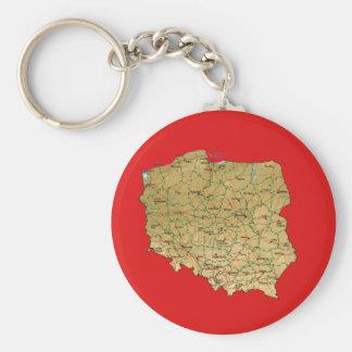 ポーランドの地図Keychain キーホルダー