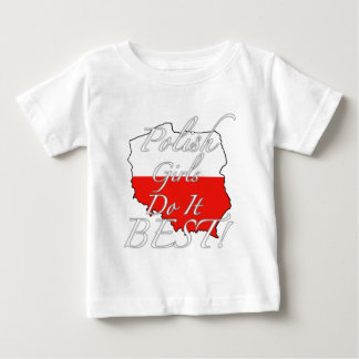 ポーランドの女の子は最も最高のなそれをします! ベビーTシャツ