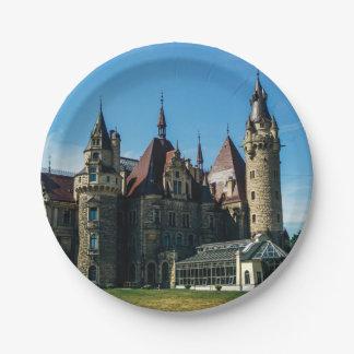 ポーランドの建築の写真のMosznaの城 ペーパープレート