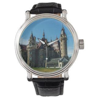 ポーランドの建築の写真のMosznaの城 腕時計