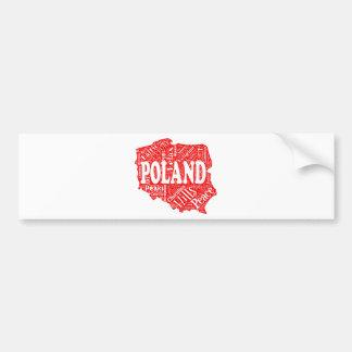 ポーランドの形のポーランドの言葉の雲を言い表わして下さい バンパーステッカー