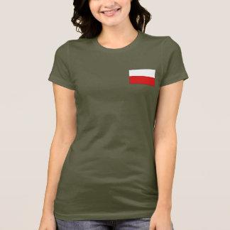 ポーランドの旗および地図dkのTシャツ Tシャツ