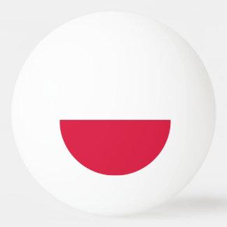 ポーランドの旗が付いている特別なピンポン球 卓球ボール