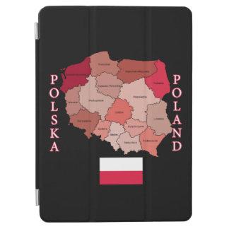 ポーランドの旗そして地図 iPad AIR カバー