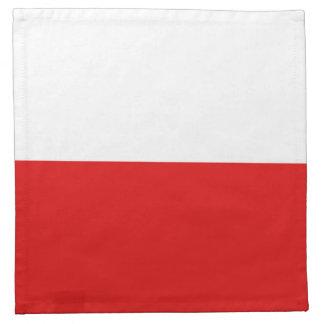ポーランドの旗のナプキン ナプキンクロス