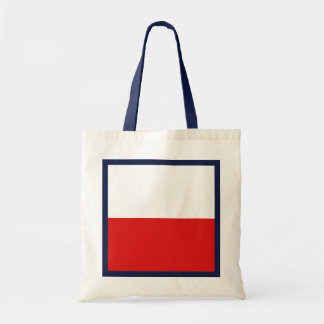 ポーランドの旗のバッグ トートバッグ