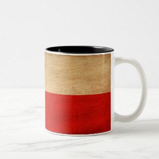 ポーランドの旗のマグ ツートーンマグカップ
