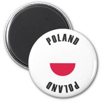 ポーランドの旗の車輪 マグネット