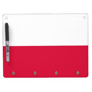ポーランドの旗を持つホワイトボード キーホルダーフック付きホワイトボード