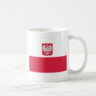 ポーランドの旗 コーヒーマグカップ