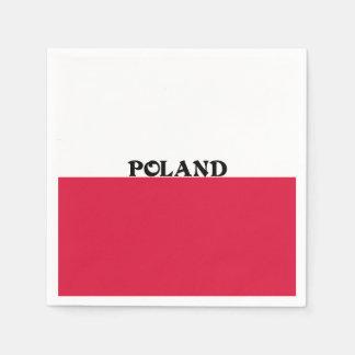 ポーランドの旗 スタンダードカクテルナプキン