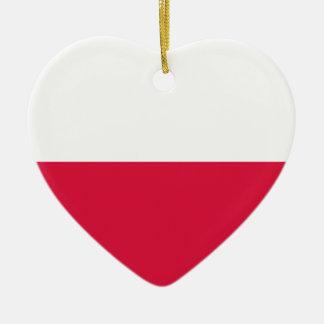 ポーランドの旗 セラミックオーナメント
