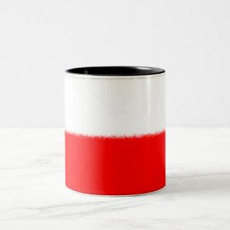 ポーランドの旗 ツートーンマグカップ