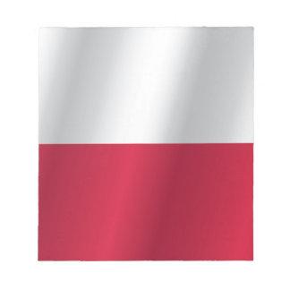 ポーランドの旗 ノートパッド