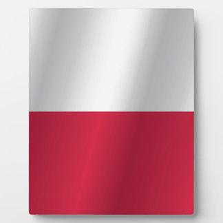 ポーランドの旗 フォトプラーク