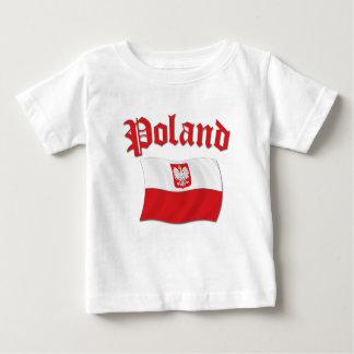 ポーランドの旗 ベビーTシャツ