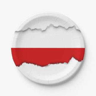 ポーランドの旗 ペーパープレート