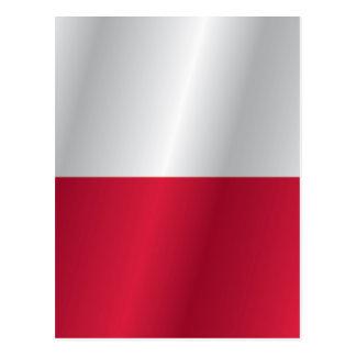ポーランドの旗 ポストカード