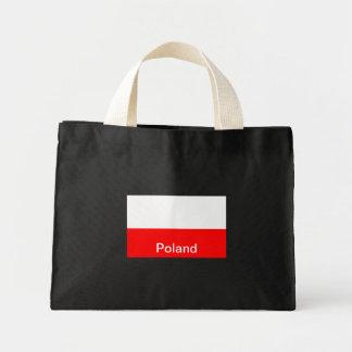 ポーランドの旗 ミニトートバッグ