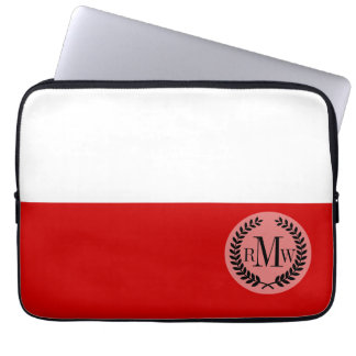ポーランドの旗 ラップトップスリーブ
