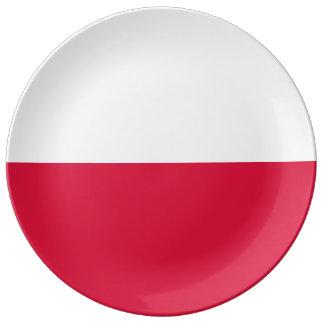 ポーランドの旗 磁器プレート