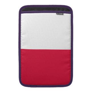 ポーランドの旗 MacBook スリーブ