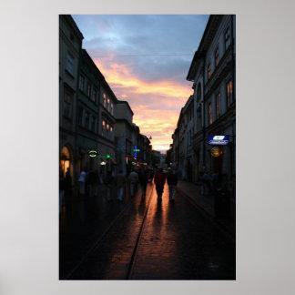ポーランドの日没 ポスター