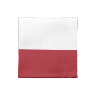 ポーランドの明白な旗 ナプキンクロス