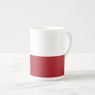 ポーランドの明白な旗 ボーンチャイナカップ