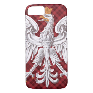 ポーランドの白いワシの格子縞のiPhone 7やっと iPhone 8/7ケース