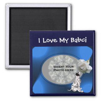 ポーランドの祖母愛私のBabciの子犬の磁石 マグネット