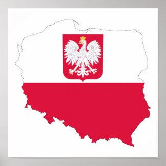 ポーランドの紋章の地図ポスター ポスター