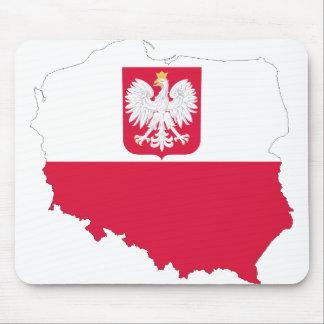 ポーランドの紋章の地図 マウスパッド