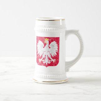 ポーランドの紋章付き外衣 ビールジョッキ