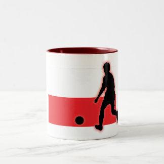ポーランドの罷業者1 ツートーンマグカップ