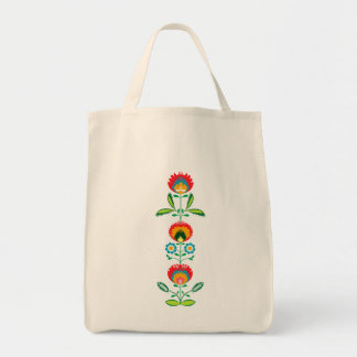 ポーランドの花の刺繍、トートバック トートバッグ