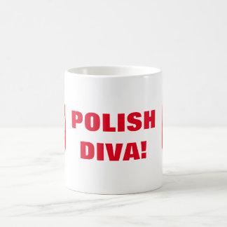 ポーランドの花型女性歌手! コーヒーマグカップ