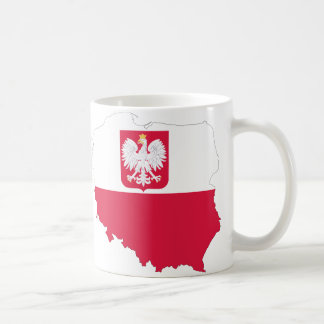 ポーランドの頂上の地図のマグ コーヒーマグカップ